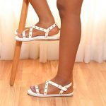 Studded Caged Sandals