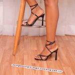 Strappy Square Heels